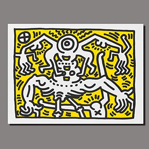 yiyiyaya Churchill gemälde Leinwand Kunst Amerikanische Flagge Abstrakte Kunstdrucke Poster Für Wohnzimmer Moderne Cartoon Leinwand Painting-70x90CM_NO_Frame_Keith_ (2)