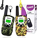 Kids Walkie Talkies,Walkie Talkies for Kids (2 Pack), Walkie Talkies Toys Camouflage 22 Channels 2 Way Radio with LCD Flashlight, Gift for 3-12 Year Old Boys Girls Suitable for Camping Hiking