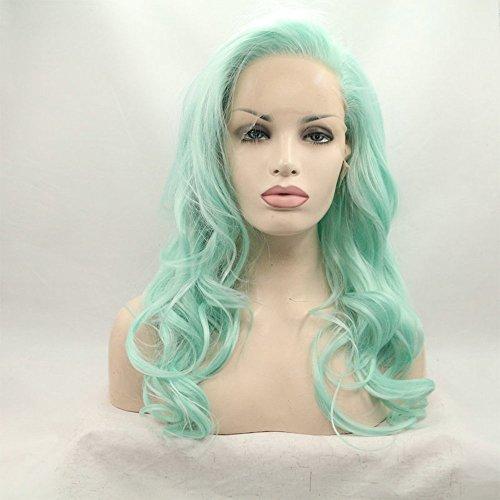 Drag Queen Perruque synthétique pour femme Vert pastel 55,9 cm
