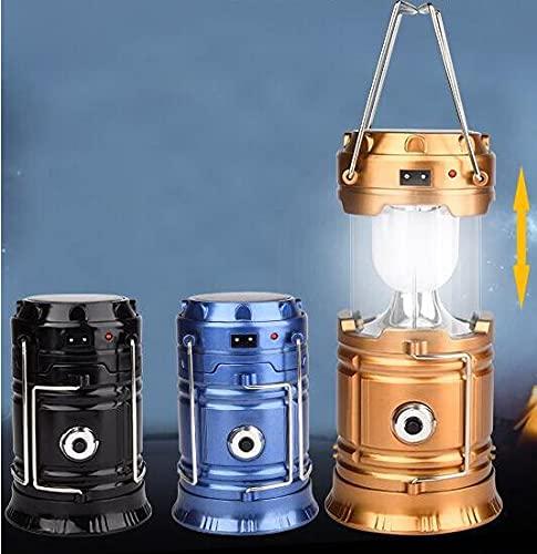EACHPT 2PCS Farol Portátil De Camping, Luces Portátiles Recargables Luces LED de Emergencia Linternas Solares Plegables Resistentes al Agua Luces Solares para Acampar Caminar, Pescar, Cazar