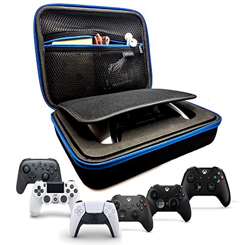 MABU KONDE Controller Carrying Case Compatible with Playstation 5/Playstation 4/Xbox One/Xbox One S/Xbox One X/Nintendo Pro Controller with Mesh Pocket, Waterproof and Anti-Shock