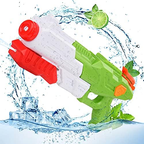 Colmanda Pistole ad Acqua Giocattolo, Giocattoli Pistole ad Acqua - Capacità 365ML, Pistole ad Acqua Bambini Gamma di 10 Metri, Water Guns Giocattoli Estivi per Ragazzi Ragazza (Verde)