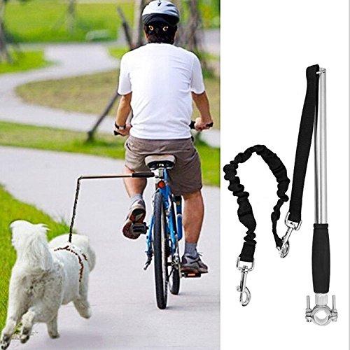 Tokenhigh Fahrrad Hund Gürtel Edelstahl Fahrrad Hunde Leine Pet Training Sport Führen Elastische Hundeleine,Hundetrainer für Fahrräder,sicheres Radfahren mit Ihrem Hund