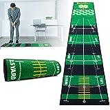 Golf Putting Mat for Indoor Practice (Green) - Helps Improve Putt Accuracy - Indoor Golf Mat - Golf Putting Green Indoor, Golf Practice Mat, Office Putting Green, Golf Putting Mat Indoor