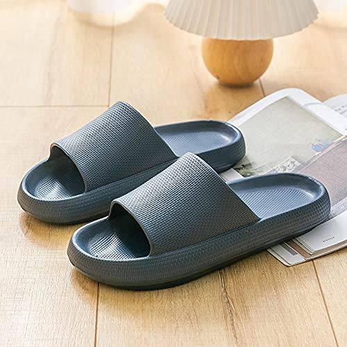 LLGG Sandalias de Punta Descubierta para Mujer,Sandalias de baño de baño, Zapatillas de Silencio EVA-Tibetano_42-43,Zapatillas de Masaje para Mujer