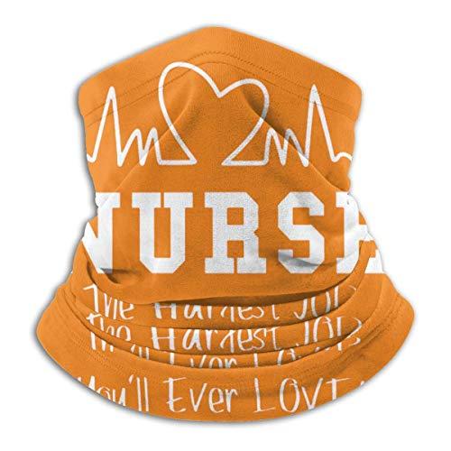 TJKK Enfermera - Hardest Job You Will Ever Love Microfibra Cuello Calentador Bufanda Gaiter Headwear Máscara facial