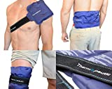"Thermopeutic Reusable Ice Pack for Injuries (15"" X 7"") - Extra Long Lasting Gel Cold Pack Ice Wrap for Pain Relief and Surgery - Shoulder, Lower Back, Knee, Arm, Foot, Hip and More"