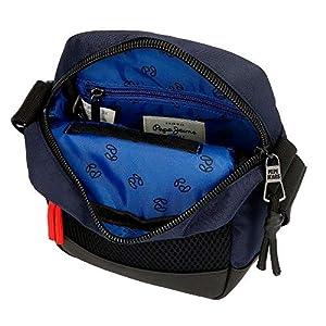 51YvWaQ73gL. SS300  - Bandolera Pepe Jeans Split, Azul, 16x21x7 cm