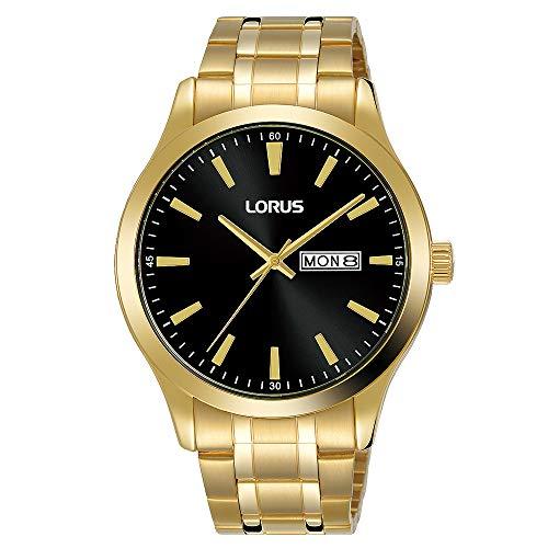 Seiko UK Limited - EU Reloj Analógico para Hombres de Cuarzo con Correa en Bañada en Oro RH344AX9