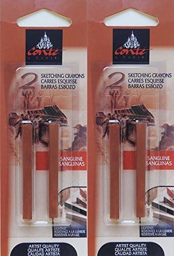 Many popular brands Conté à Paris Sanguine Sketching SALENEW very popular Set pc 4 Crayons Bundle