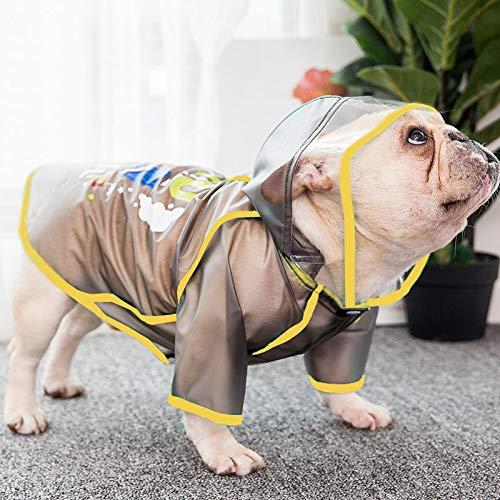 Spring puppy hond waterdichte regenjas kleding dunne modellen zomer bulldog puppy hond huisdier klein paraplu L Zwart (bijzondere wet emmer)