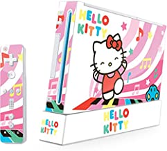 Skinit Hello Kitty Dancing Notes Skin for Wii (Includes 1 Controller) - Officially Licensed Sanrio Gaming Decal - Ultra Thin, Lightweight Vinyl Decal Protection