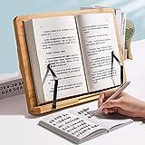 Portafolio de cocina, soporte de libro de recetas con 6 alturas ajustables portátil y plegable porta recetas para la revista de recetas libro de música portátil 39 * 28 cm