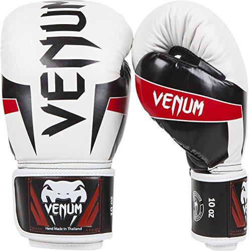 Venum Erwachsene Boxhandschuhe Elite, Weiß, 14 oz
