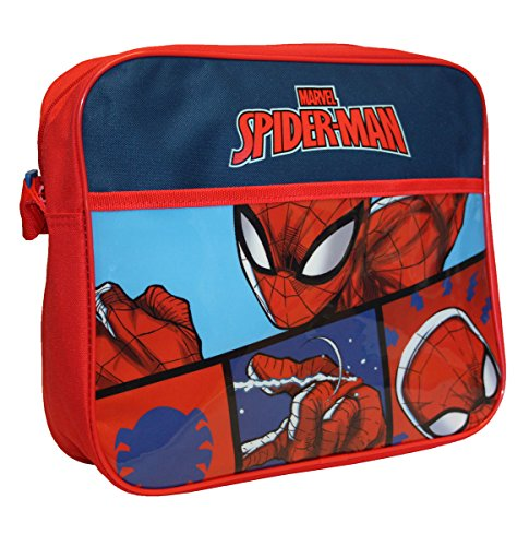 Spiderman Courier Bag Bolso bandolera, 34 cm, Rojo (Red)