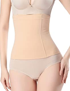 Sekluxy Waist Shapewear Cincher Body Shaper Girdle Invisible Seamless Postpartum Slimming