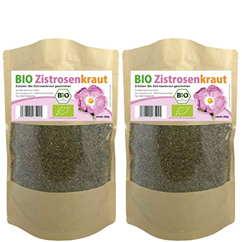 Bio Zistrosenkraut geschnitten 1 Kg - Zistrose - Zistrosentee - Cistus Incanus Tee - Naturprodukt ohne Zusatz (1000g)