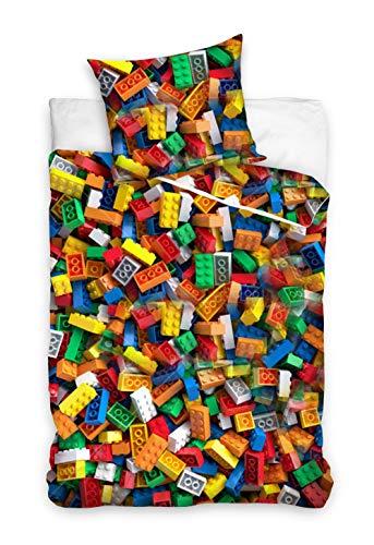 Carbotex Bloques de construcción, bloques de construcción, bloques de construcción, juguetes para ropa de cama infantil, 135 x 200 cm