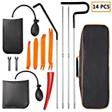 Eleven Guns 14pcs Car Tool Kit, Essential Professional Emergency Car Out Tools Set with Trim Removal Tool, Air Wedge Bag, Long Reach Grabber, Carrying Package