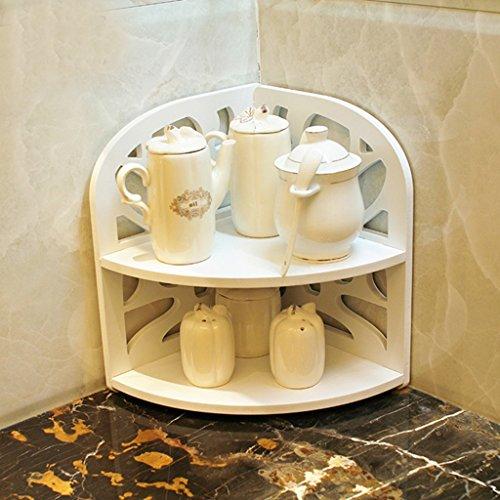 Waterproof Multifonctions Toilette Salle de bains Articles de toilette Coin étagère Ustensiles de cuisine ménagers Bois Plastique