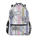 DXG1 Rucksack mit Insektenstreifen, für Damen, Herren, Teenager, Mädchen, Jungen, Schultasche, Bücher, Tagesrucksack, Reisen, College, Schulterriemen, große Kapazität, 40,5 x 29 x 20 cm