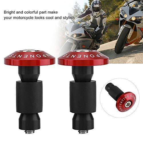 KIMISS Universal 1Pair Motorrad Lenkerende Schiebekappen für die meisten Motorräder mit 22 mm (7/8 Zoll) Durchmesser Lenkern.(Rot)