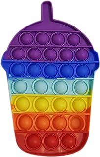 pEGONE Push Bubble Fidget Toys Sensory,Anti Stress Jouet,Squeeze Simple Dimple Pas Cher Gadget,Silicone Fidget Spinner Fid...