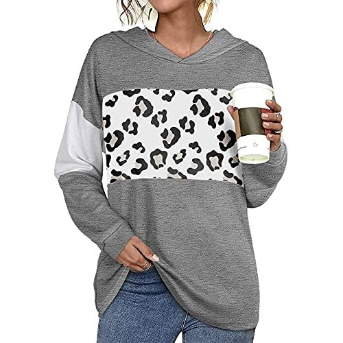 XUJY Camiseta de manga larga para mujer, camiseta de manga larga, camiseta de béisbol, informal, holgada, color bloque de color, suéter, blusa, túnica, camiseta básica, blusa, 5, S