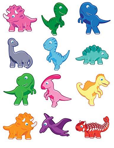 HENBRANDT 12 x pour Enfants Tatouages TEMPORAIRES Transferts Jouets Cadeaux de fête à emporter Dinosaures