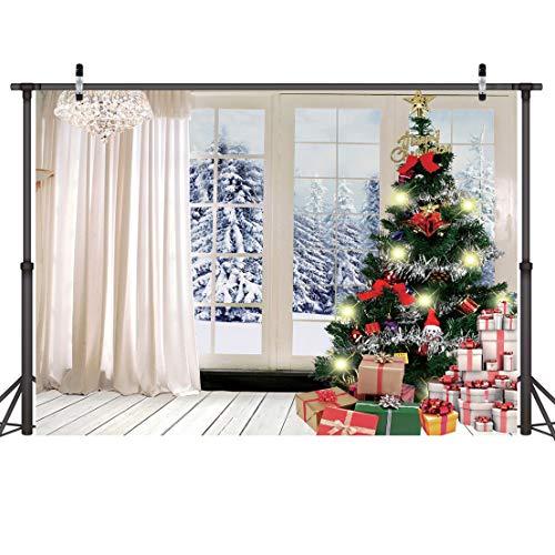 LYWYGG 7X5FT Fondos Navidad Árbol de Navidad Regalo Telón de Fondo de...