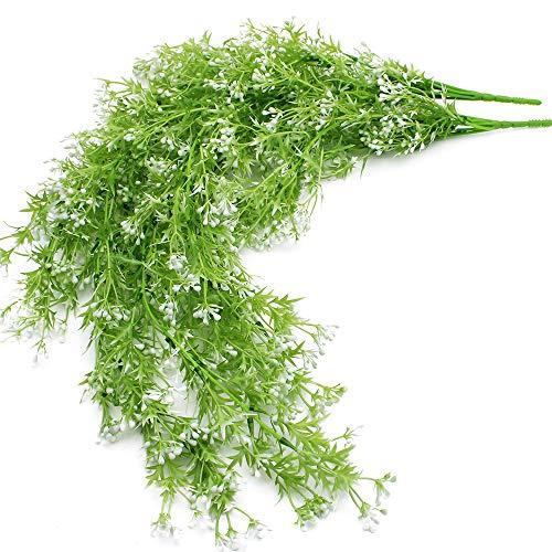 LumenTY 2 Stück Künstliche Pflanzen Künstliche Ivy Vine Farn Blumen Rebe kunstpflanzen Farn Plastikpflanzen für Hochzeit Party Garten Festival Dekorationen Wanddekoration