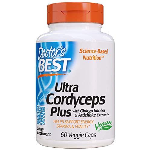 Doctor's Best Ultra Cordyceps Plus, Non-GMO, Vegan, Gluten Free, Soy Free, 60 Veggie Caps