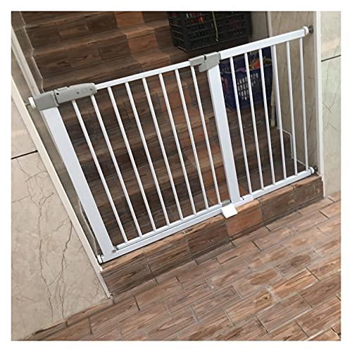 Puerta para Perros para Puertas De Entrada, Barrera De Seguridad Proteger Barandilla Partición Interior, Ajuste De Presión Sin Taladrar Ampliable A 223 Cm (Color : White, Size : 174cm-181cm)