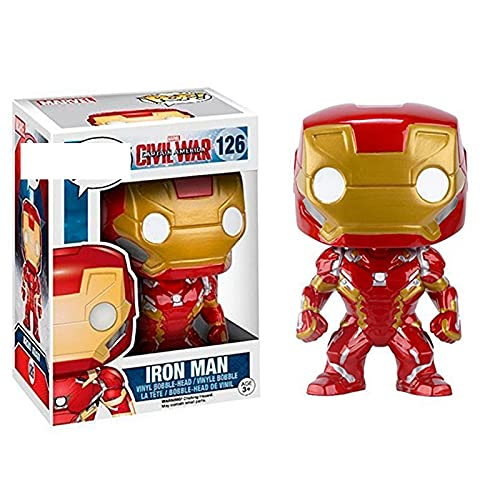 Marvel for Funko pop Avengers series products: Iron Man #126 figura coleccionable juguete