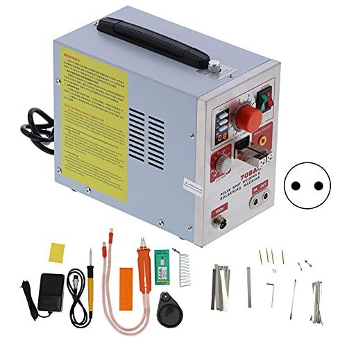 Sistemas de soldadura de soldadura por puntos 3.2kw Máquina de bolígrafo de soldadura con pantalla digital LED portátil Herramientas de reparación de equipos de soldadura 18650 SUNK(EU Plug 220V)