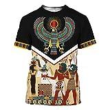 Takra Gold Men Beautiful Anubis And Eye Of Horus Hoodie Sweatshirts 3D Print (Anubis Egyptian T-shirt, 3XL)