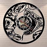 BFMBCHDJ The Snake Serpent Animal Home Wandkunst Moderne Wanduhr Venom Reptile Vinyl Schallplatte...