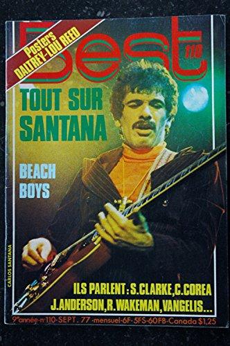 BEST 110 SEPTEMBRE 1977 SANTANA DALTREY BEACH BOYS CLARKE COREA VANGELIS + POSTERS LOU REED ROGER DALTREY