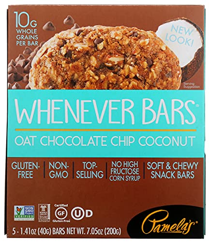 Pamela's Whenever Bars, Oat Chocolate Chip Coconut, 7.05 oz, 5 ct