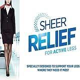 Kinara Warner's Sheer Relief For Active Legs Travel Support Pantyhose