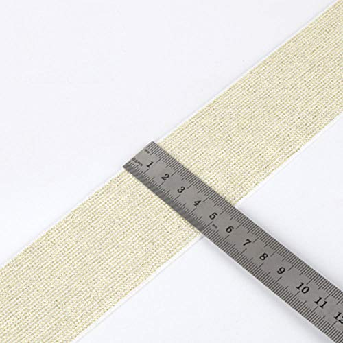 Aiyow Naaimaskers Elastische band Elastisch touw Hoge elastische plaat DIY naaiende tailleband voor masker.Goud glanzend oppervlak 5CM * 1M