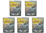 5 Packs Dragon Shield Classic Clear Standard Size 100 ct Card Sleeves Value Bundle!