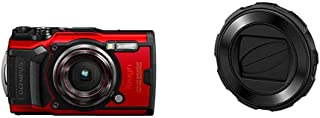 OLYMPUS デジタルカメラ Tough TG-6 レッド 1200万画素CMOS F2.0 15m 防水 100kgf耐荷重 GPS 内蔵Wi-Fi TG-6RED & レンズバリア LB-T01
