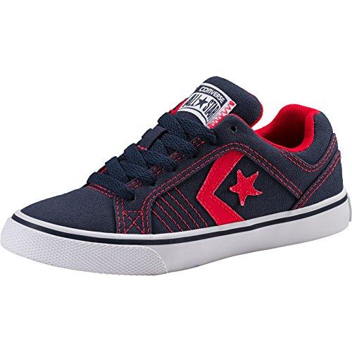 Converse Unisex-Kinder Gates OX Sneaker Blau (Navy 410) 32 EU