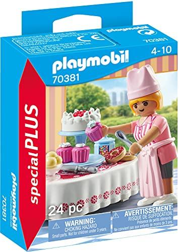 Playmobil- Pasticcera, Colore, 70381