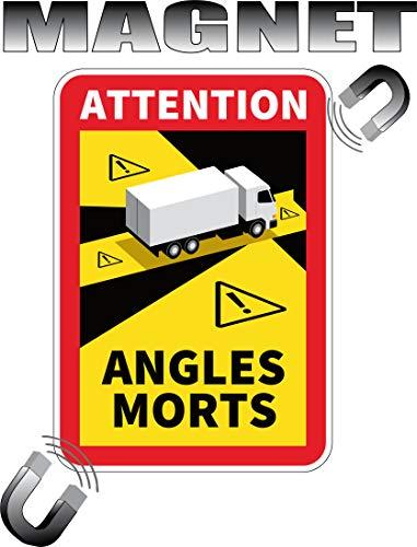 Magnet Achtung Toten Winkel für Truck LKW