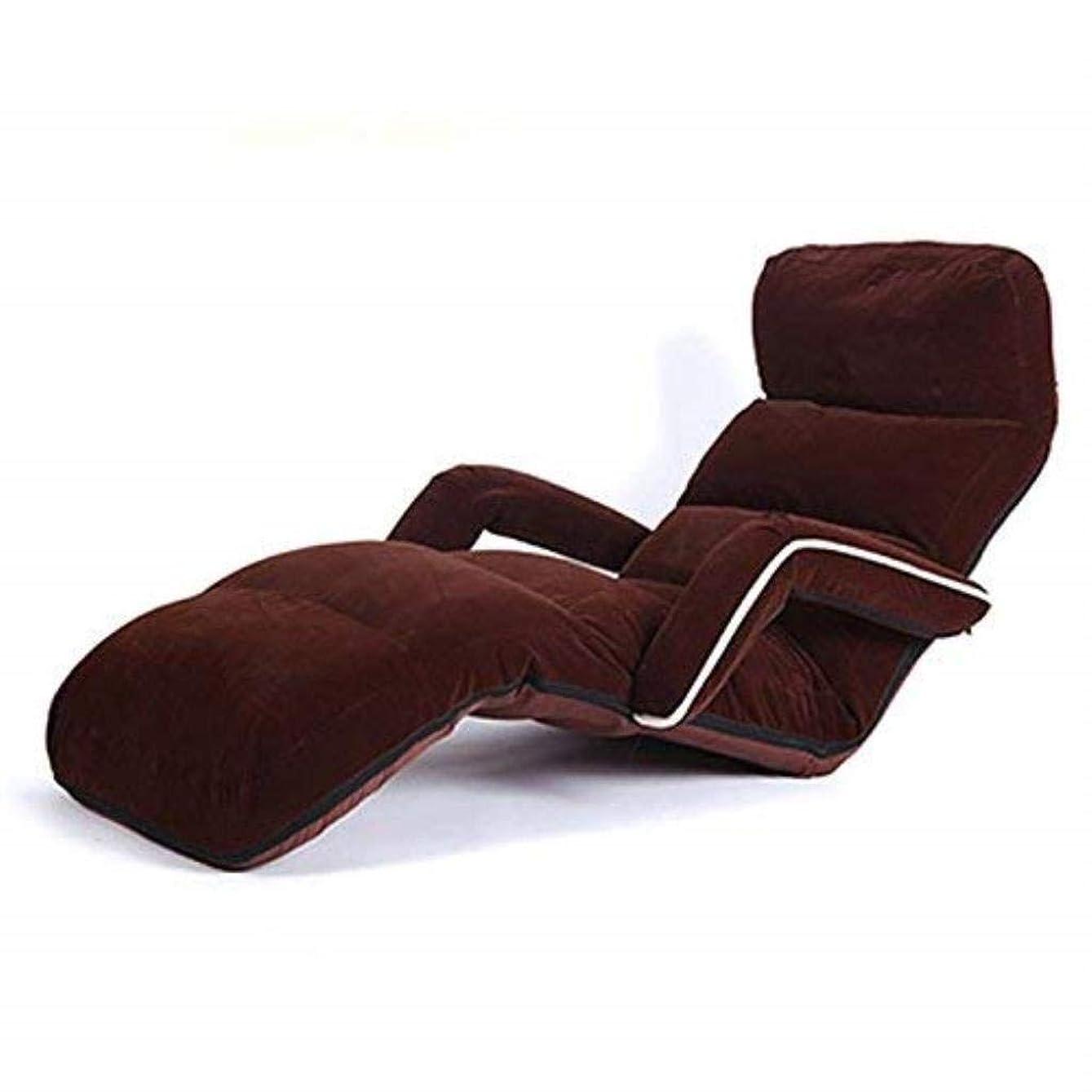 派生するほのかペチコートアームレスト付き畳ベッドパッド入りの椅子で怠惰なソファー、スエード張り出し窓/寮シングルフロアソファ、ナップラウンジチェア、折り畳み式 (Color : 5#)
