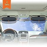 WANPOOL 遮光板は運転席や助手席の乗員を、太陽光による眩しさから保護し、且つ運転の妨げにならない日除けを提供しています - 2 枚