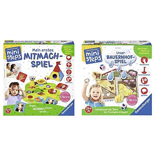 Ravensburger ministeps 04498 - Mein erstes Mitmach-Spiel & ministeps 04510 - Unser Bauernhof-Spiel