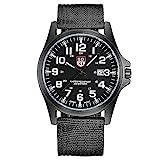 Reloj para hombre de moda suiza Reloj militar de nailon trenzado, calendario deportivo de cuarzo para hombre, esfera de 40 mm (color: negro puro)